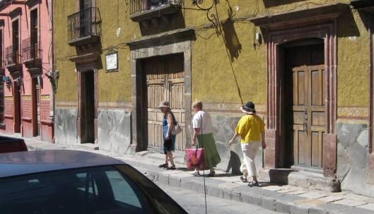 three tourist gals