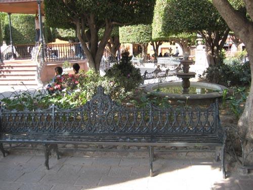 Iron bench